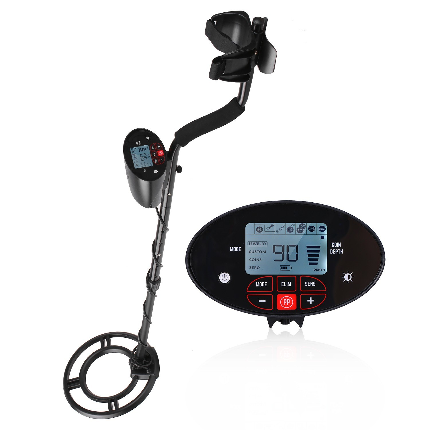 Metal Detector Lcd Display Underground