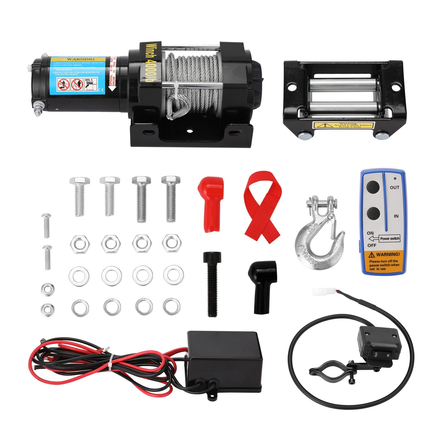 Tomtop - [EU Clearance Sale] 63% OFF 4000lbs Electric Recovery Winch Kit ATV Trailer Truck Car, $112.99 (Inclusive of VAT)
