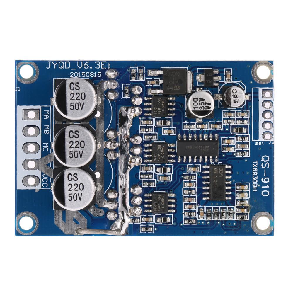 Dc 12v 36v 500w brushless motor controller without hall for 12v 500w dc motor