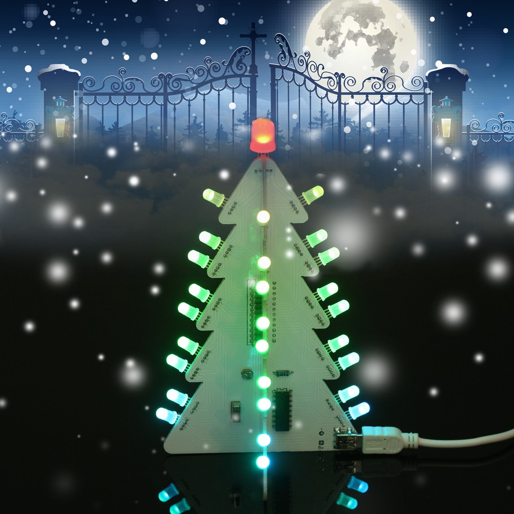 DIY Light Control Full Color LED Big Size Christmas Tree Decoration ...