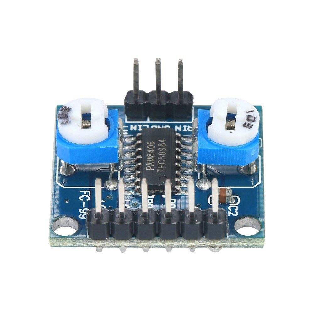 3pcs 5w2 Pam8406 Digital Amplifier Board Dual Channel Stereo Audio 5w Module With Volume Potentiometer