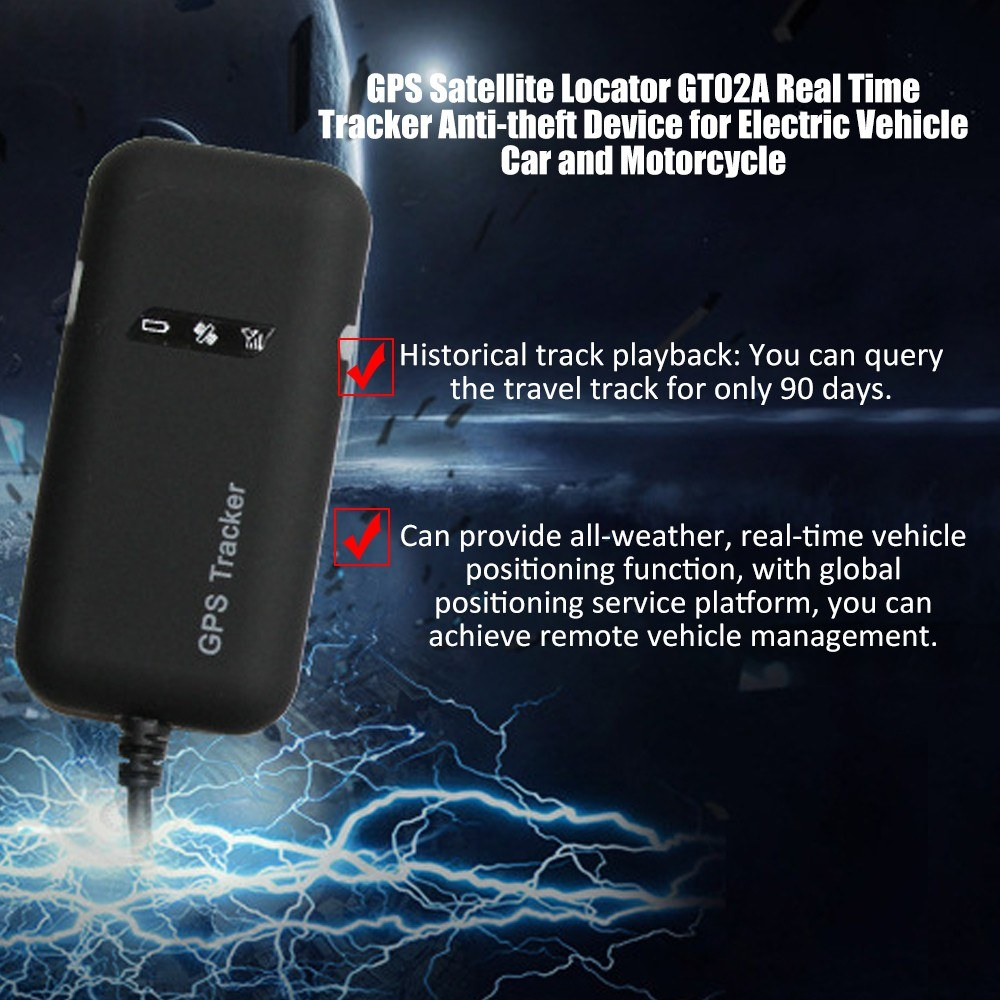 GPS Satellite Locator GT02A Real Time Tracker Google link real time tracking