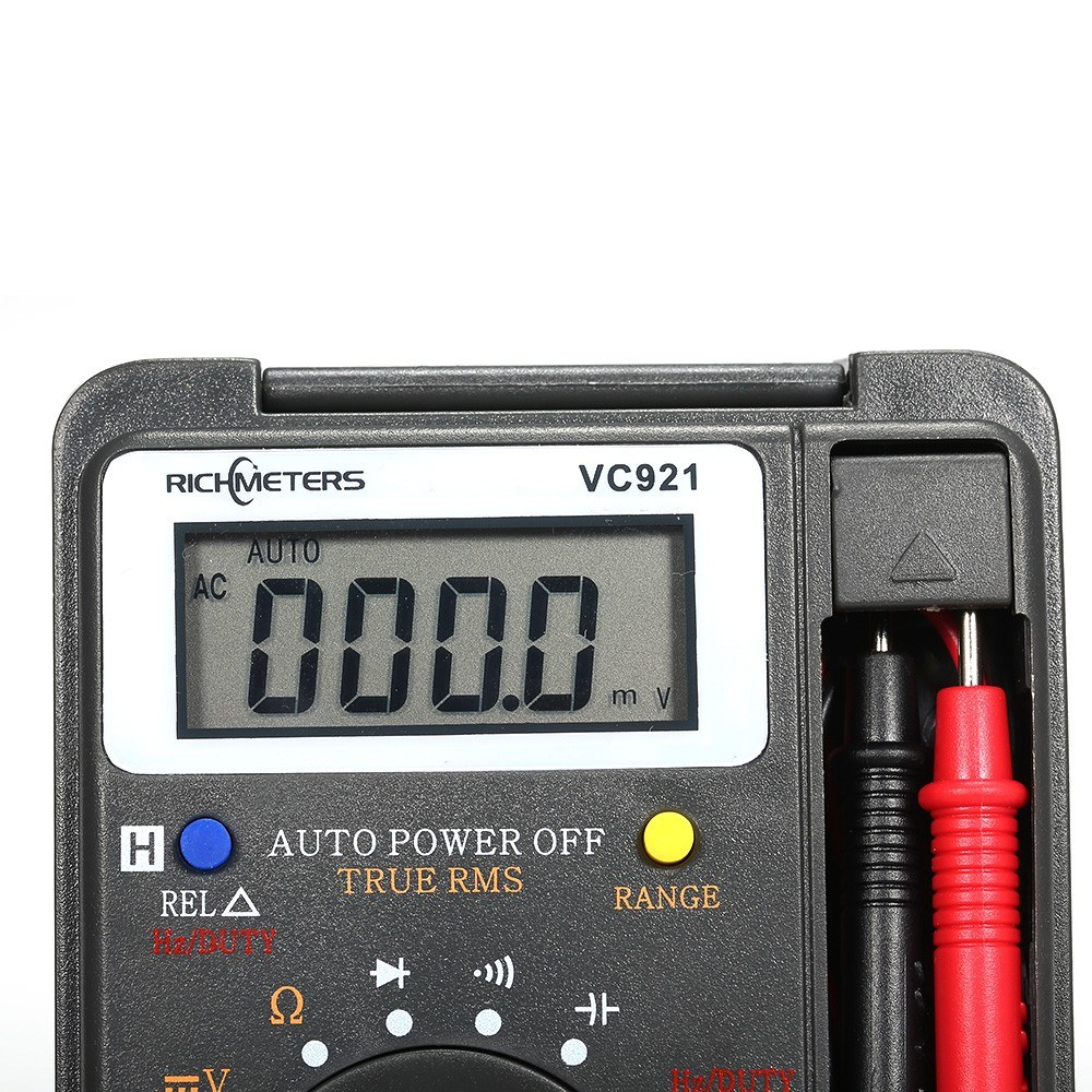 RICHMETERS Handheld Mini Digital Multimeter Multifunction 4000 Counts Multi  Meter AC/DC Transistor Voltage Tester Ammeter Temperature Sensor Test