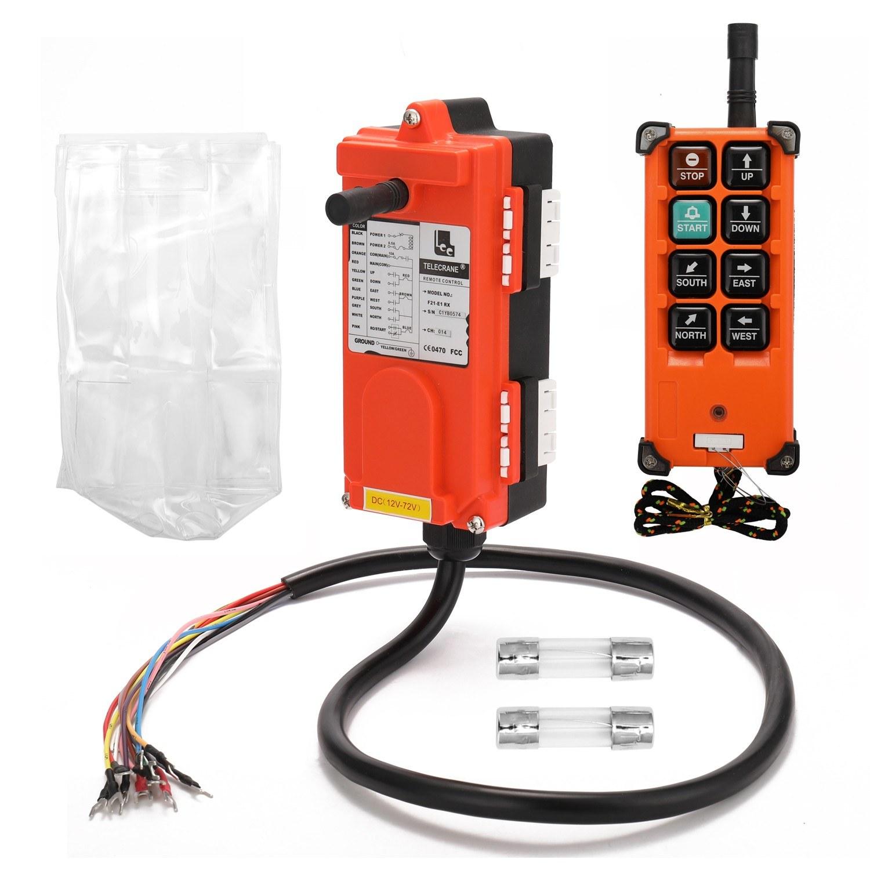 F21-E1B DC12-72V Industrial Remote Controller Switches Hoist Crane Control Lift Remote Control One Transmitter One Receiver