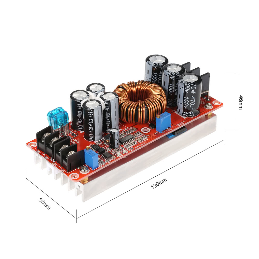 1200w High Power Dc Converter Boost Step Up Supply Module Buck With Shortcircuit Protection Hardware Design 20a In 8 60v Out 12 80v Adjustable