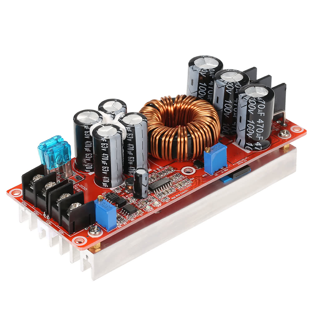 1200w High Power Dc Converter Boost Step Up Supply Module Switching Voltage Regulator Circuit Or Booster Converters 20a In 8 60v Out 12 80v Adjustable Sales Online Black Red Tomtop