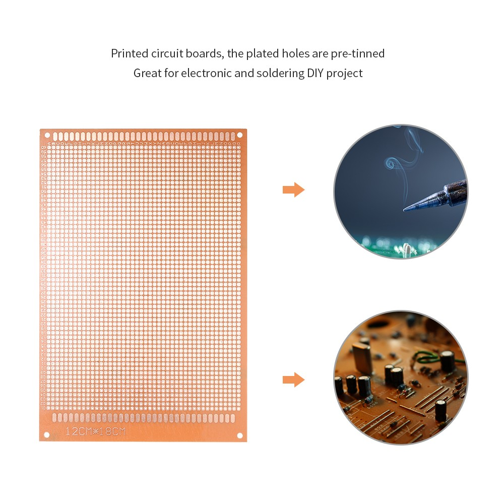 12pcs Prototype PCB Board Breadboard Universal Printed Circuit Board Kit  for Electronic DIY Project