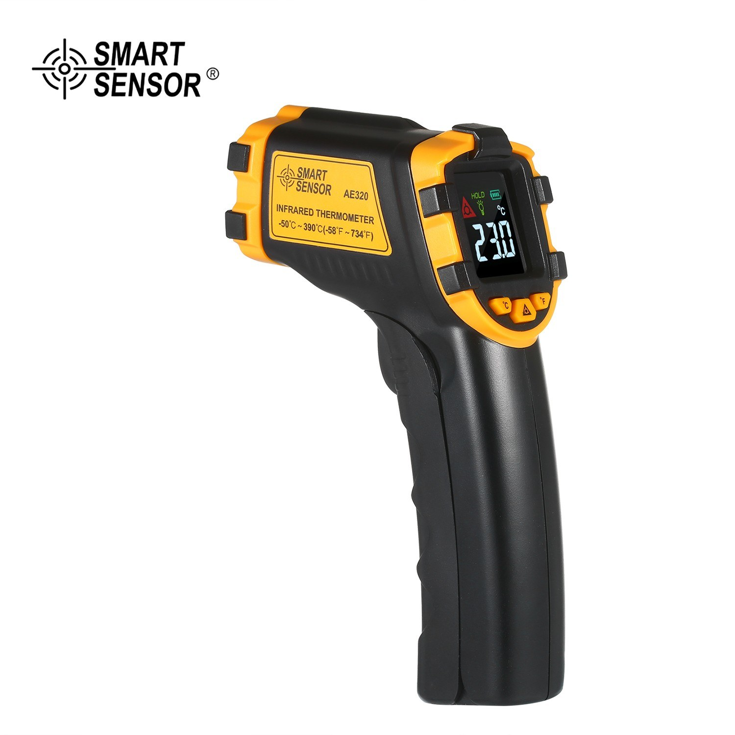 cafago.com - 46% OFF SMART SENSOR -50¡«390¡æ 12:1 Mini Handheld Digital Non-contact IR Infrared Thermometer,free shipping+$16.49