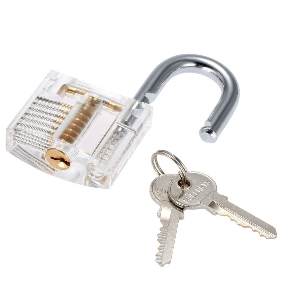 Large Transparent Practice Padlock Locksmith Pick Lock Training Tool 10pcs Lockpick Set With Keys Sales Online 0 10cm Tomtop