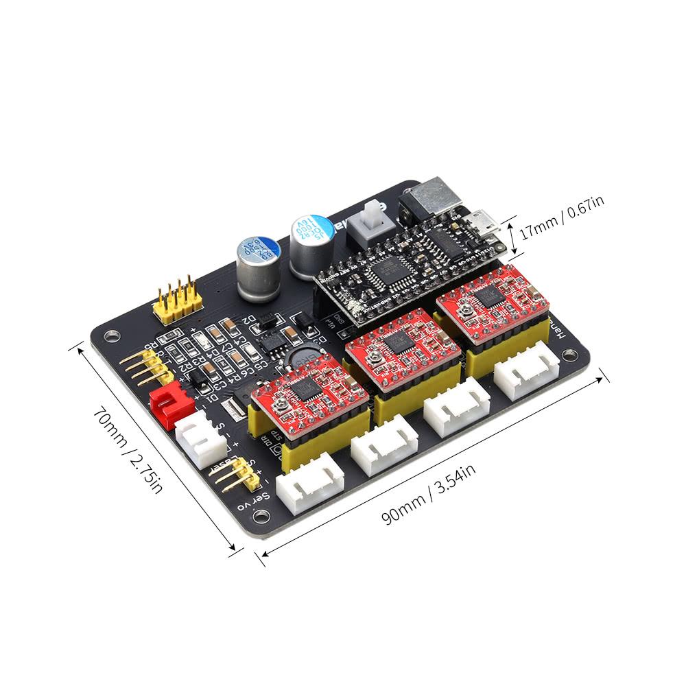 Eleksmaker Eleksmana Xyz 3 Axis Stepper Motor Driver Controller 2 Board Control Panel For Diy Laser Engraver Sales Online Black Tomtop