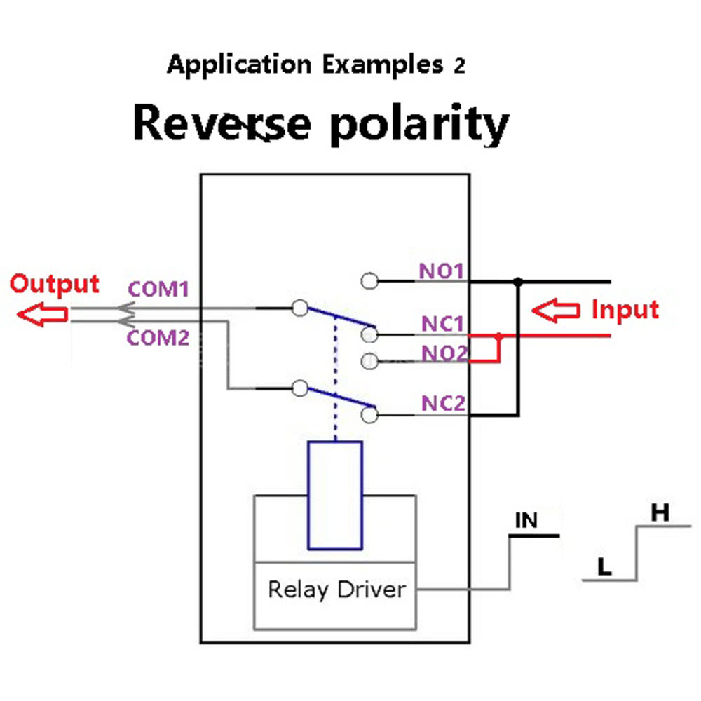 DPDT Relay Module Reverse Polarity Switch ARDUINO UNO MEGA