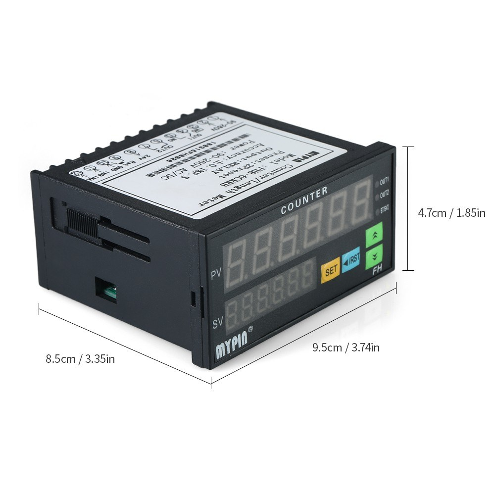 Multi-functional Dual LED Display Digital Counter 90~265V AC/DC ...