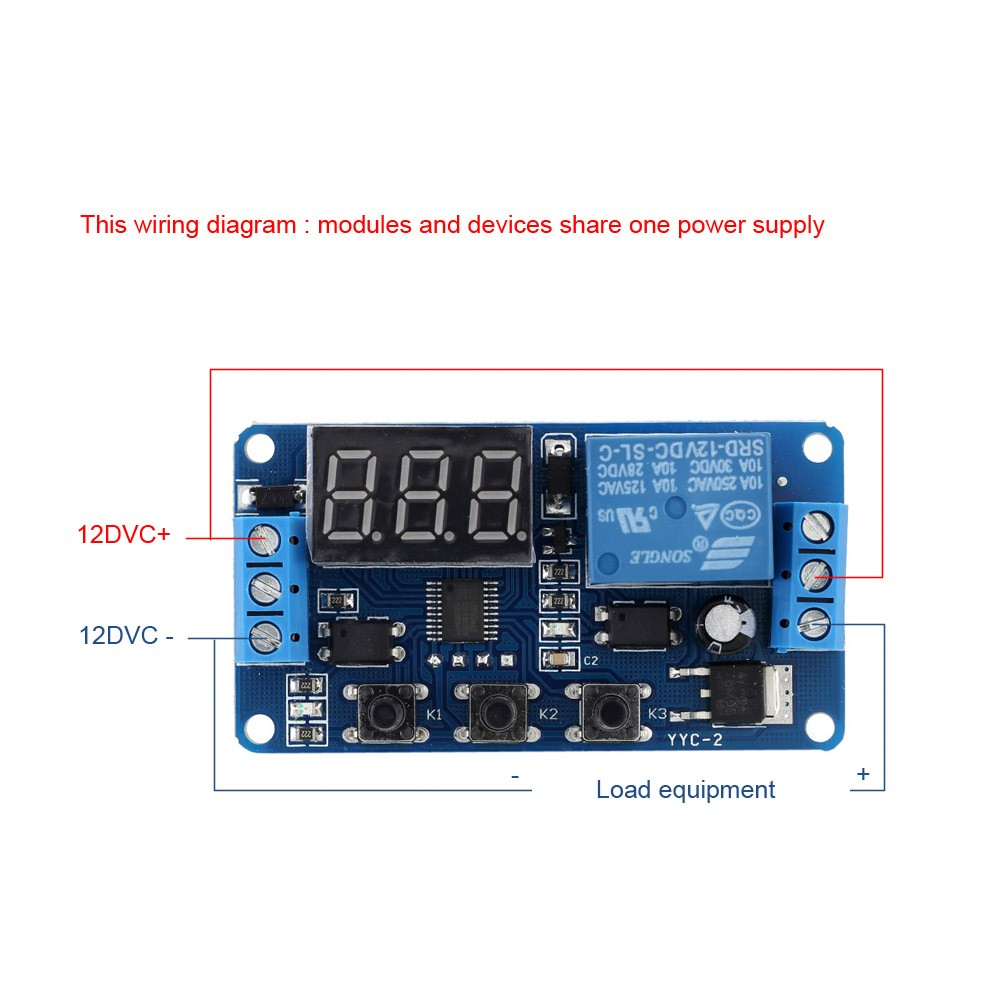 12V LED Automation Delay Timer Control Switch Relay Module with Case Sales  Online black - Tomtop