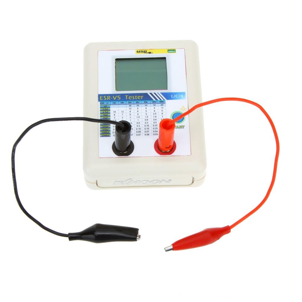 Kkmoon Esr V5 Capacitor Tester Lcr Internal Resistance Meter Auto Digital Electric Bridge Capacitance Inductance Test In Circuit Sales Online Tomtop