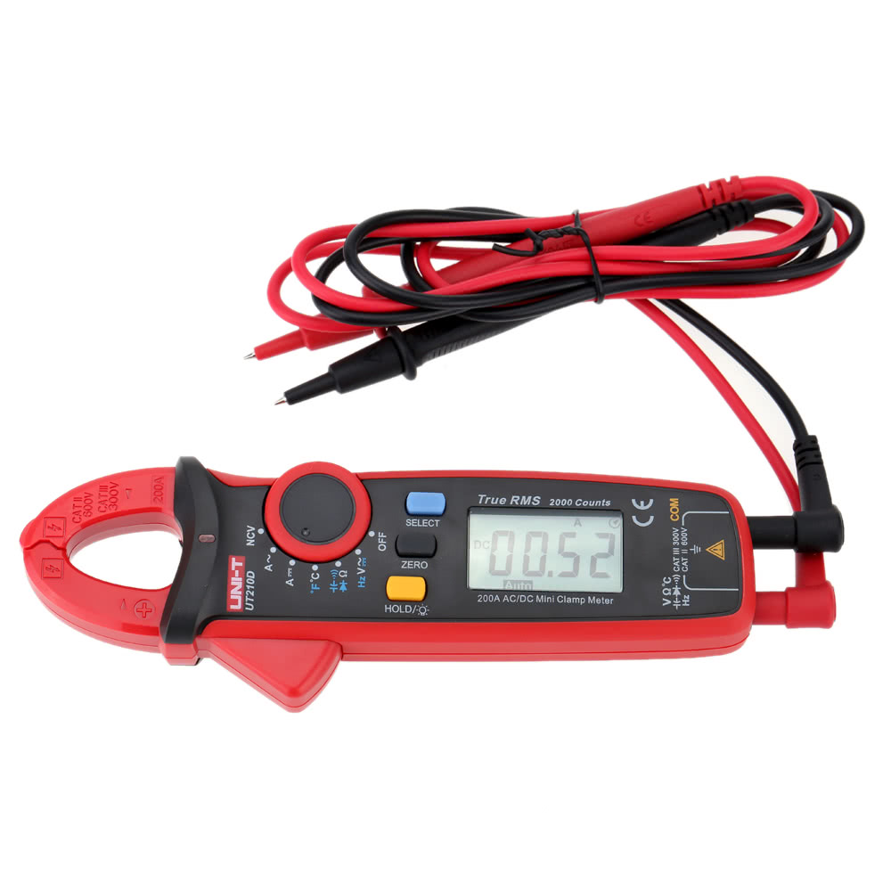 tomtop.com - 31% OFF UNI-T UT210D Digital AC/DC Current Voltage Resistance Capacitance Clamp, Limited Offers $45.49