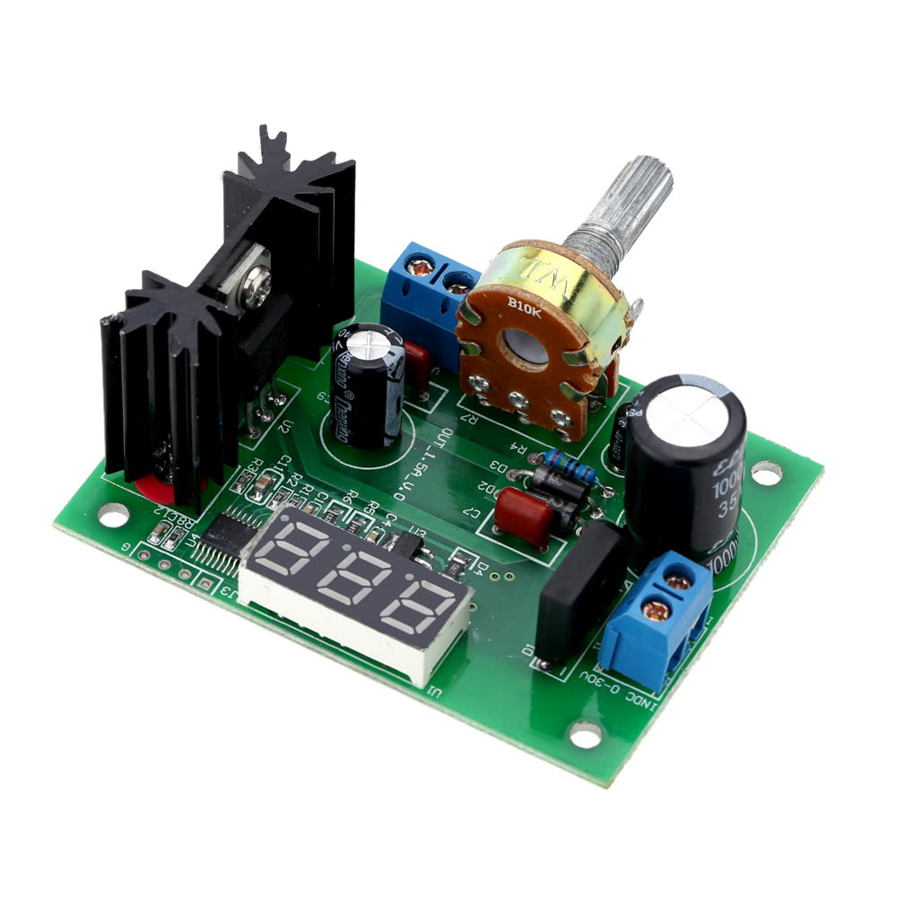 Lm317 Ac Dc Adjustable Voltage Regulator Step Down Power Supply Circuit Another For Lm 317 Module With Led Display Sales Online Black Green Tomtop
