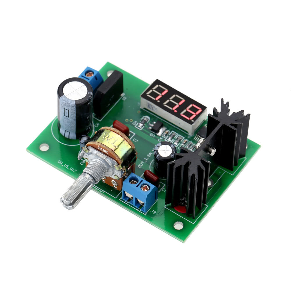Lm317 Ac Dc Adjustable Voltage Regulator Step Down Power Supply Completed Solar Battery Charger With Lm317t Current Limiting Circuit Module Led Display Sales Online Black Green Tomtop