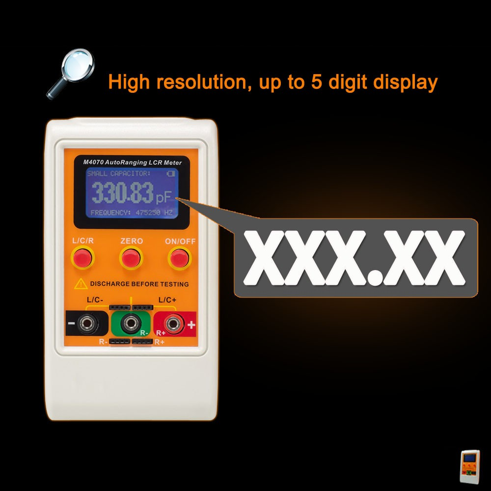 M4070 Auto Range Lcr Meter L C R Tester Professional Electrical Digital Electric Bridge Resistance Capacitance Inductance