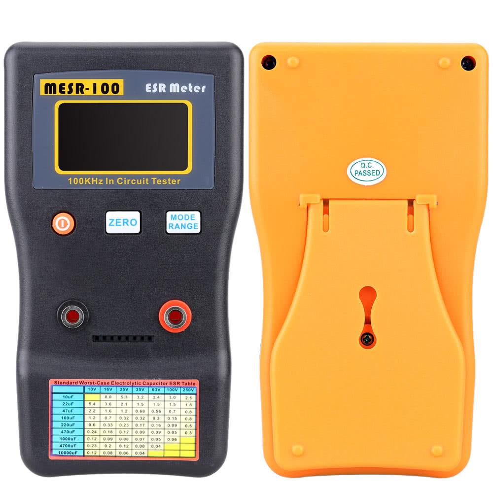 Mesr 100 Esr Capacitance Ohm Meter Professional Measuring Test Capacitor In Circuit Resistance Tester