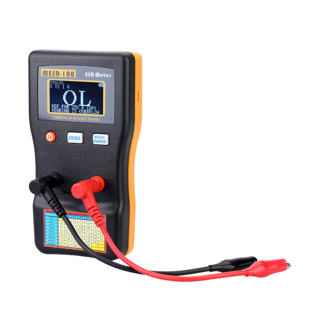 Mesr 100 Esr Capacitance Ohm Meter Professional Measuring Resistors And Capacitors In A Circuit Capacitor Resistance Tester Sales Online Black Yellow Tomtop