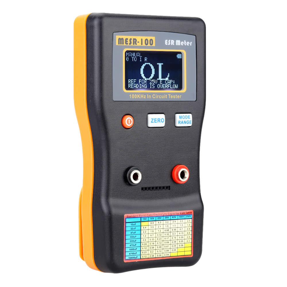 Mesr 100 Esr Capacitance Ohm Meter Professional Measuring Fantastic Item For Testing 6 12v Circuits Resistance Capacitor Circuit Tester Sales Online Black Yellow Tomtop