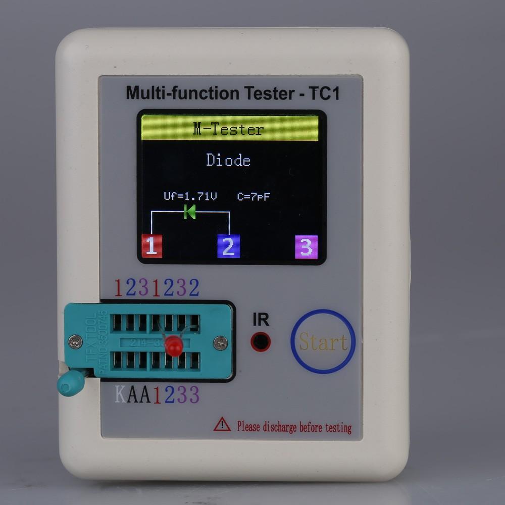 Colorful Display Transistor Tester Multi Functional Tft Backlight Zener Diode Didoe Triode Capacitance Resistor Detector Sales Online White Tomtop