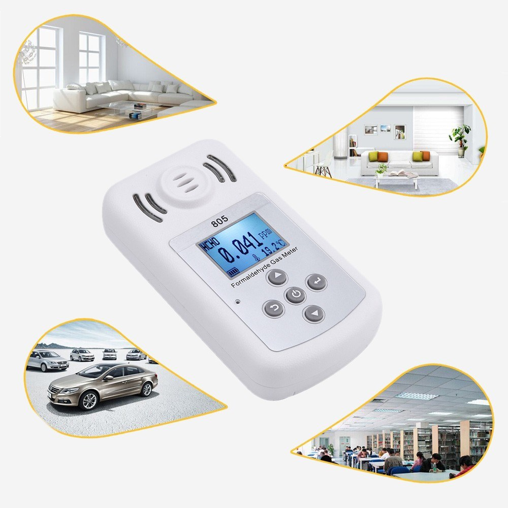 Second Hand Meter for PPM HTV Portable Formaldehyde Tester Methanal  Concentration Detector with LCD Display and Sound-light Alarm Sales Online  white -