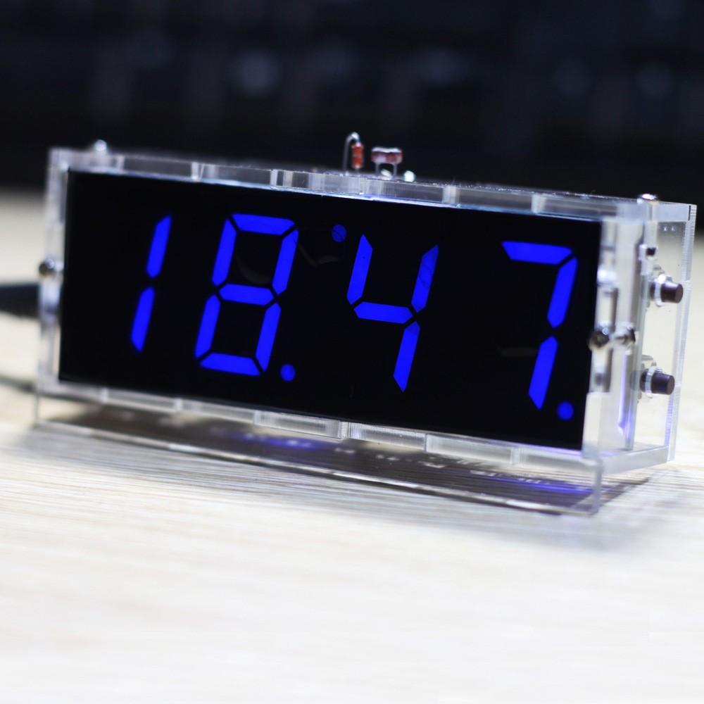 Digitaluhr Mit Beleuchtung | Beste Kompakte 4 Stellige Diy Led Digitaluhr Kit Light Control