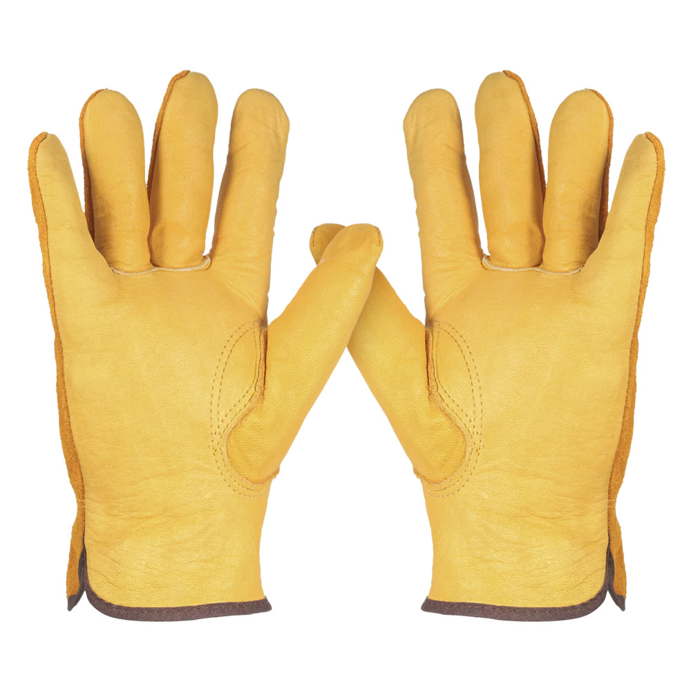 Guantes de trabajo de cuero trabajo de los hombres guantes - Guantes de seguridad ...