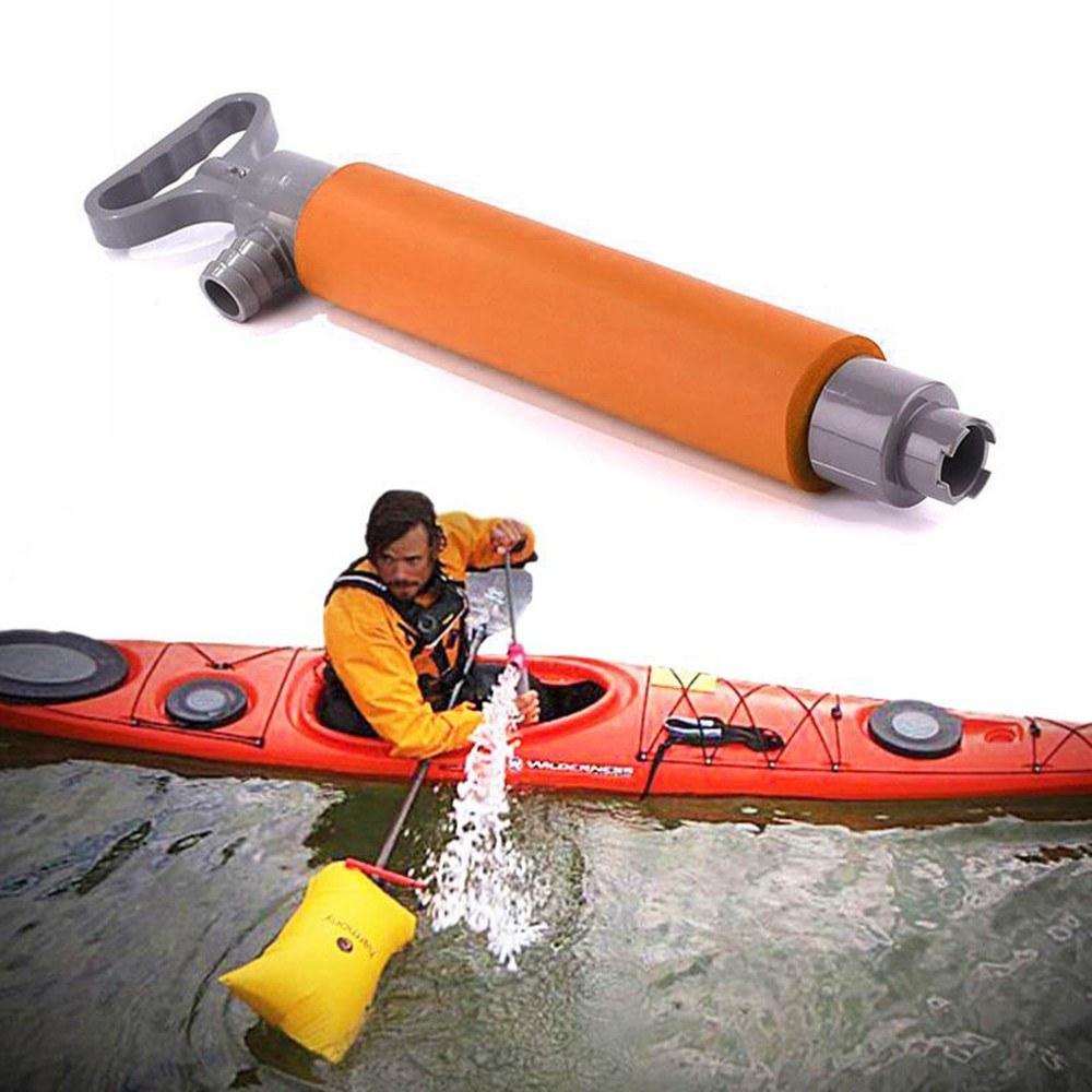 Kayak Manuelle Handwasserpumpe Bilgepumpe Notwerkzeug für Kanu Orange
