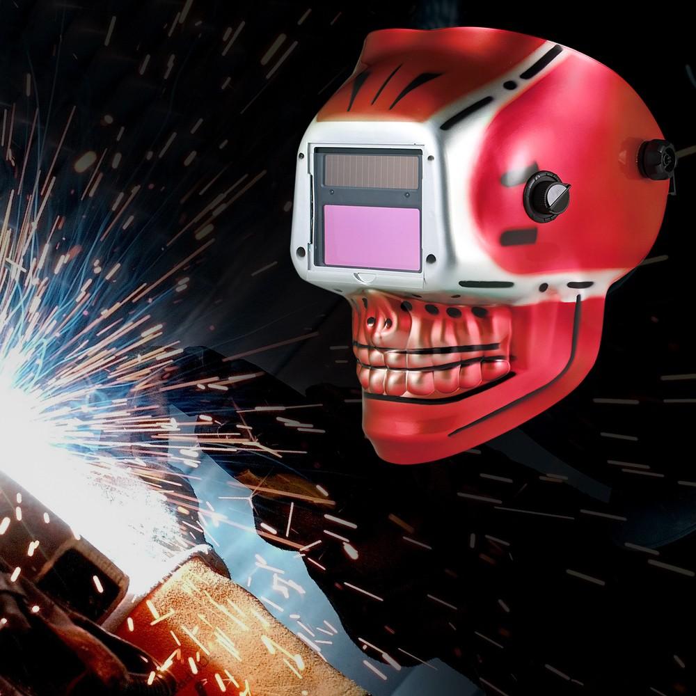 Capacete de Soldagem Industrial Solar Power Auto Escurecimento Capacete de  Solda TIG MIG Máscara de Esqueleto Do Crânio Design vermelho - Tomtop.com cb89bde14e