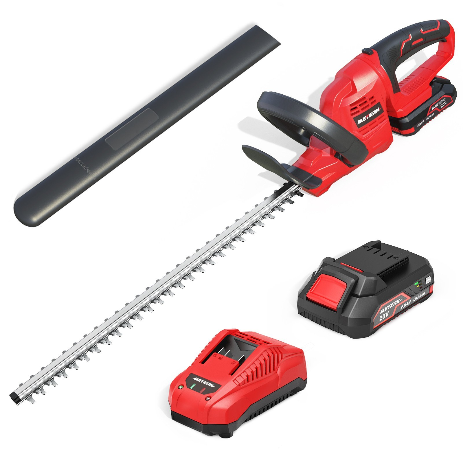 Cafago - 63% OFF METERK 20V Cordless Hedge Trimmer,free shipping+$86.34