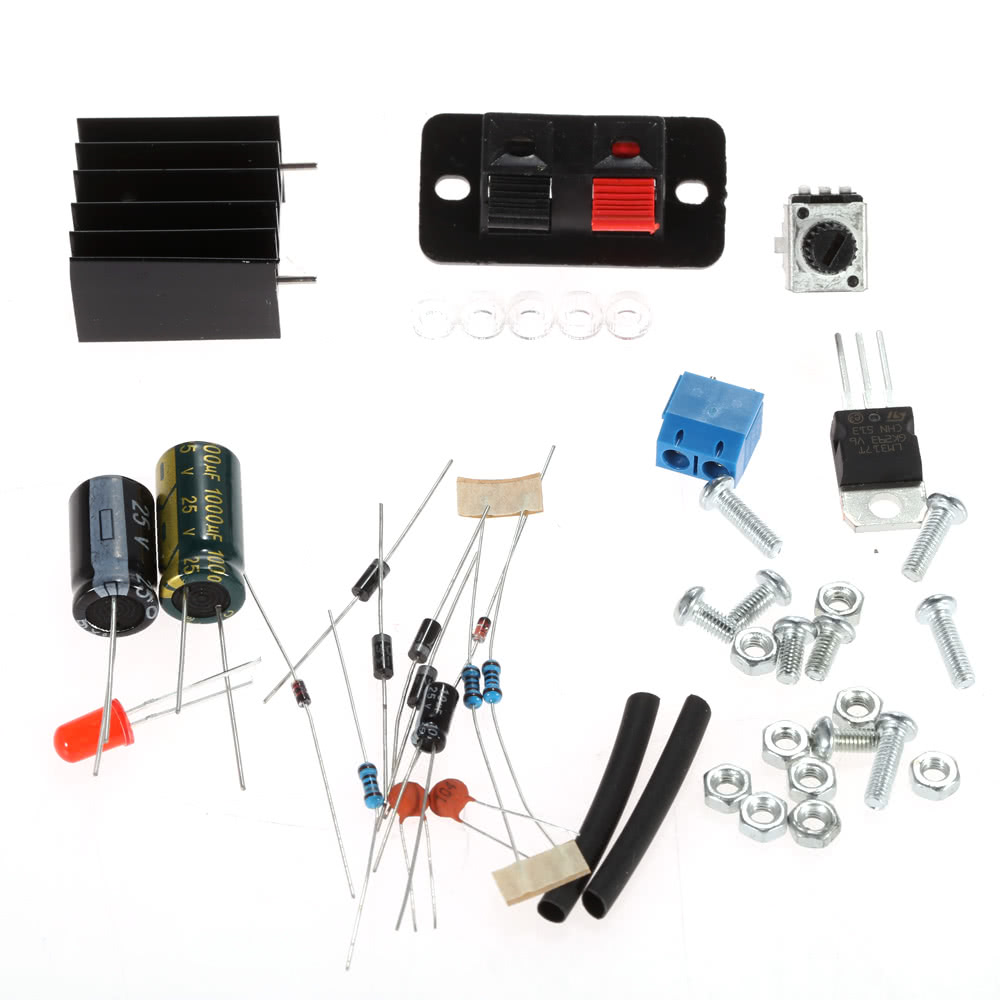 Lm317 125v 12v Continuously Adjustable Regulated Voltage Power Usb Battery Replacement By Supply Diy Kit With Transformer