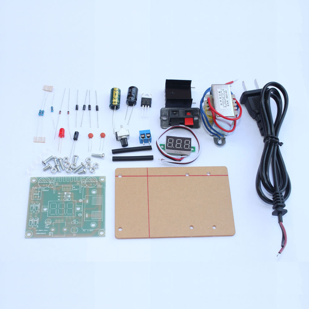 Lm317 125v 12v Continuously Adjustable Regulated Voltage Power Picture Of Versatile Regulator With Supply Diy Kit Transformer