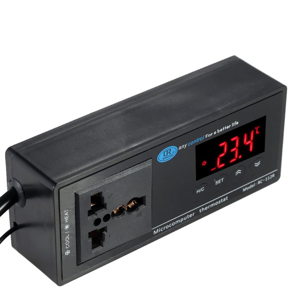 Dual-use Digital LED Industrial Temperature Controller Thermostat for  Refrigerator Aquarium Incubator Reptile 110V/220V -40℃ to 110℃