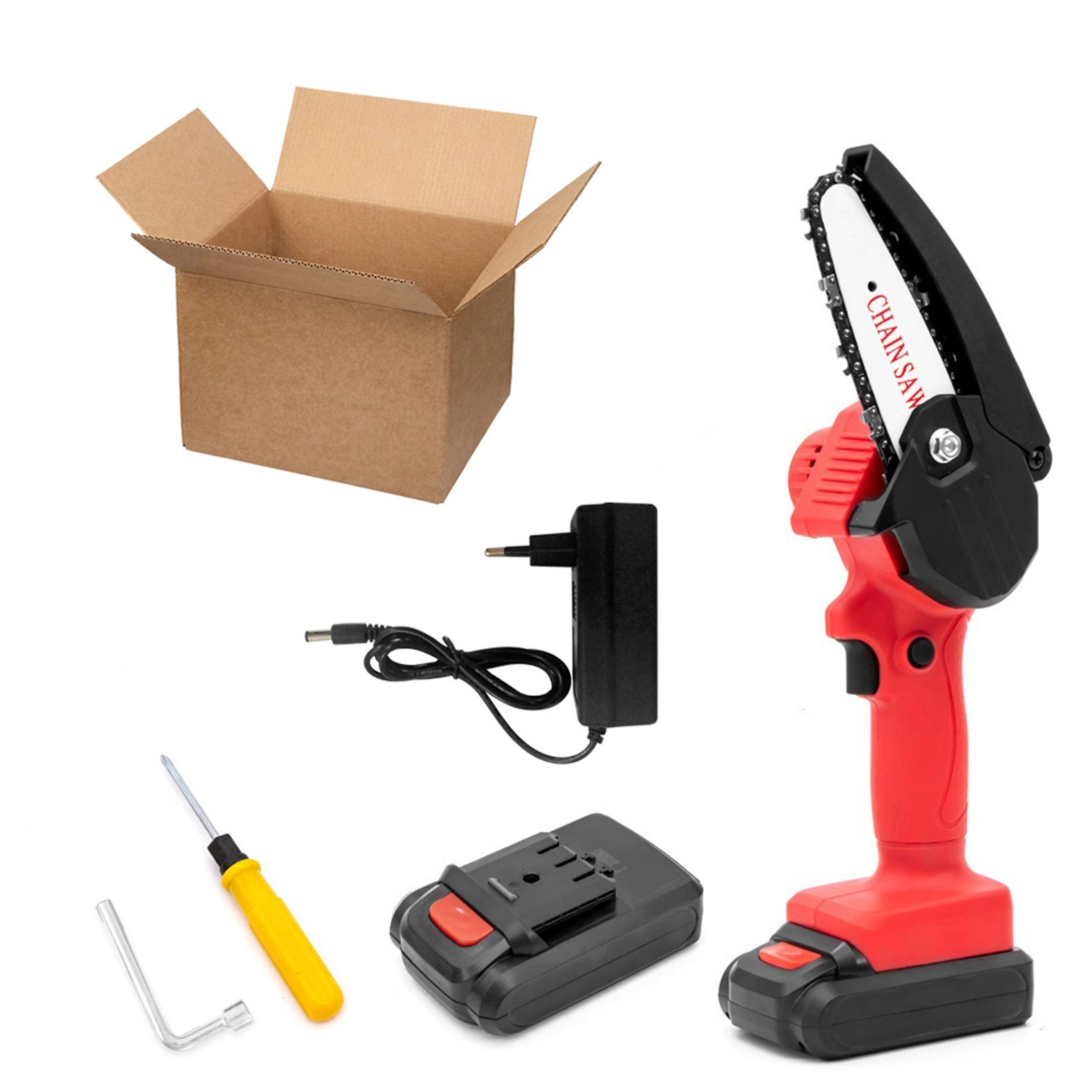 Tomtop - [EU Warehouse] 220V Rechargeable Handheld Portable Electric Pruning Saw, $55.99 (Inclusive of VAT)