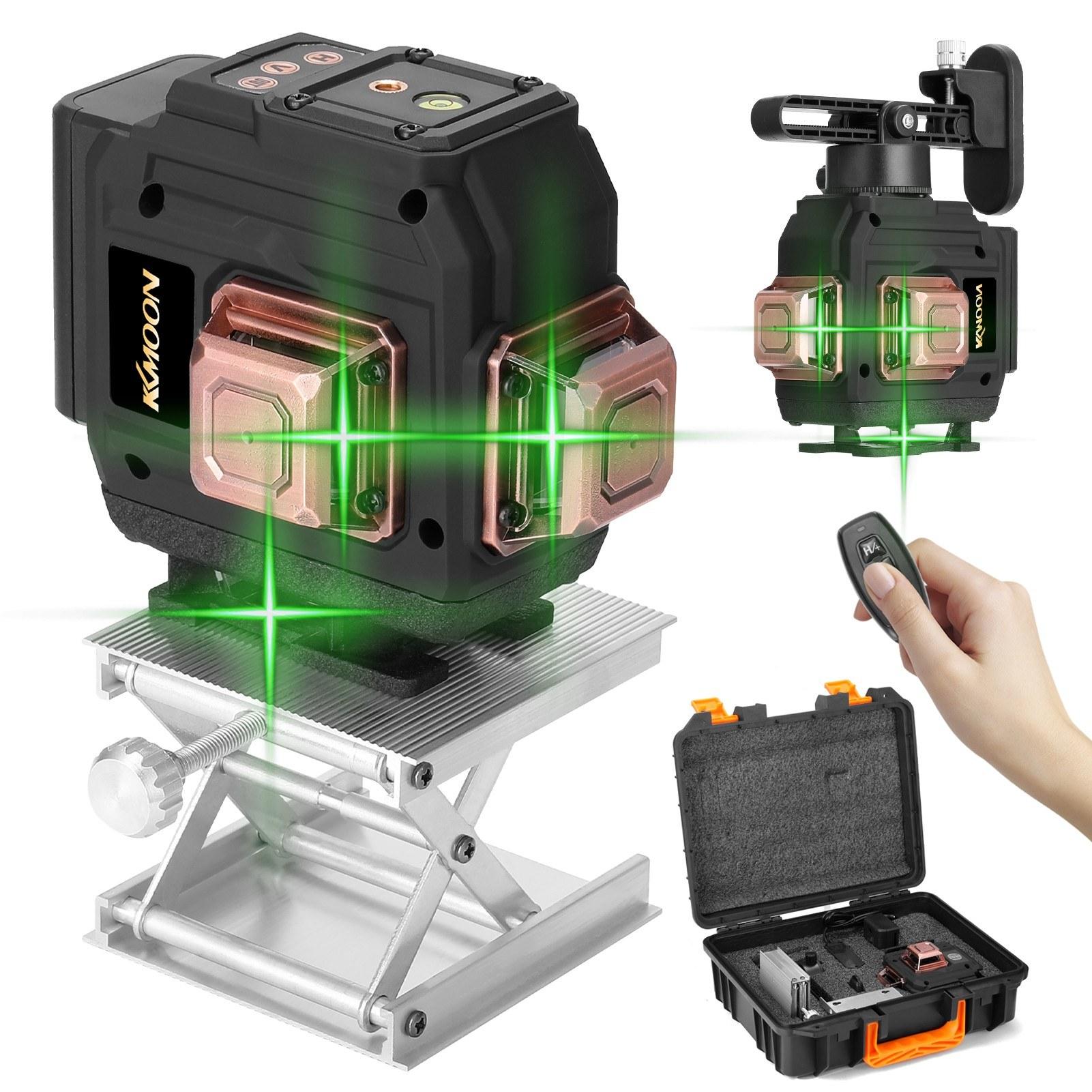 TomTop - [EU Warehouse] 56% OFF KKmoon Multifunctional 3D 12 Lines Laser Level Tool, $52.99 (Inclusive of VAT)
