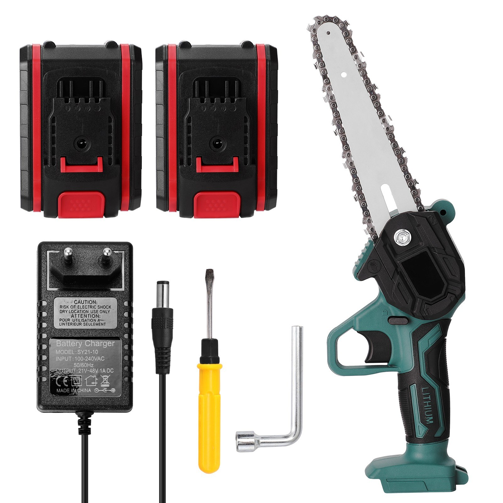 Cafago - 45% OFF 21V Portable Mini Electric Pruning Saw Rechargeable Small Wood Spliting Chainsaw,free shipping+$46.6