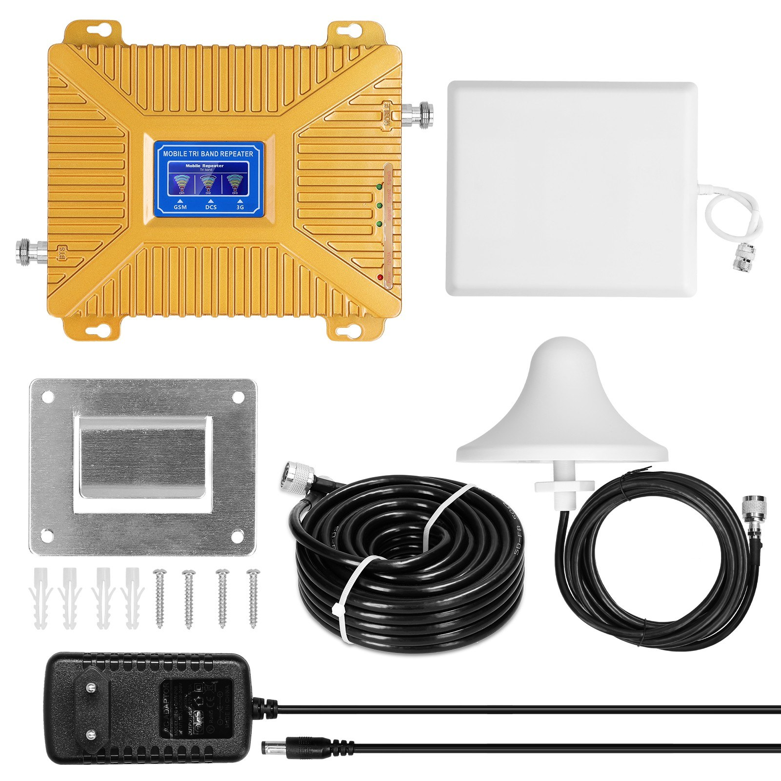 Tomtop - [EU Warehouse] 50% OFF Universal Signal Boosters Intelligent Repeaters Kit, $96.49 (Inclusive of VAT)