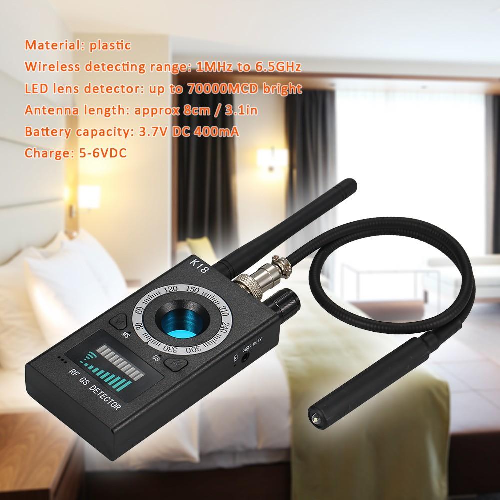 Anti-spy Detector K18 Camera GSM Audio Bug Finder GPS Signal Lens RF Tracker