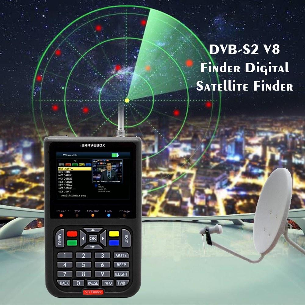 DVB-S2 V8 Finder Digital Satellite Finder Sales Online black eu plug -  Tomtop