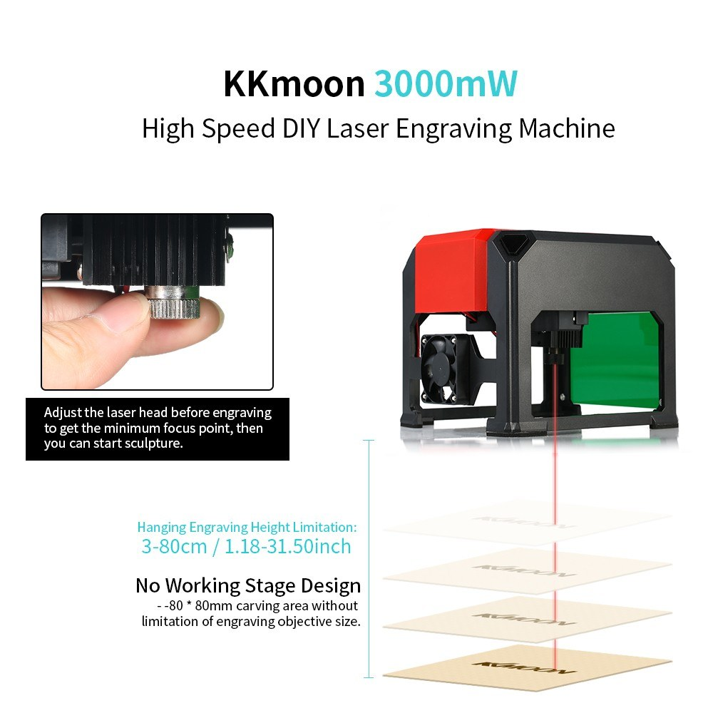 2018 New Kkmoon Automatic K5 Type 3000mw High Speed Laser Engraving Basic Outlet Wiring Http Wwwdoityourselfcom Forum Electricalacdc 1 Ac Dc Adapter Usb Disk User Manual And Software Included 2 Wood Block Paper Board Screwdriver 10 Accessories Manualenglish
