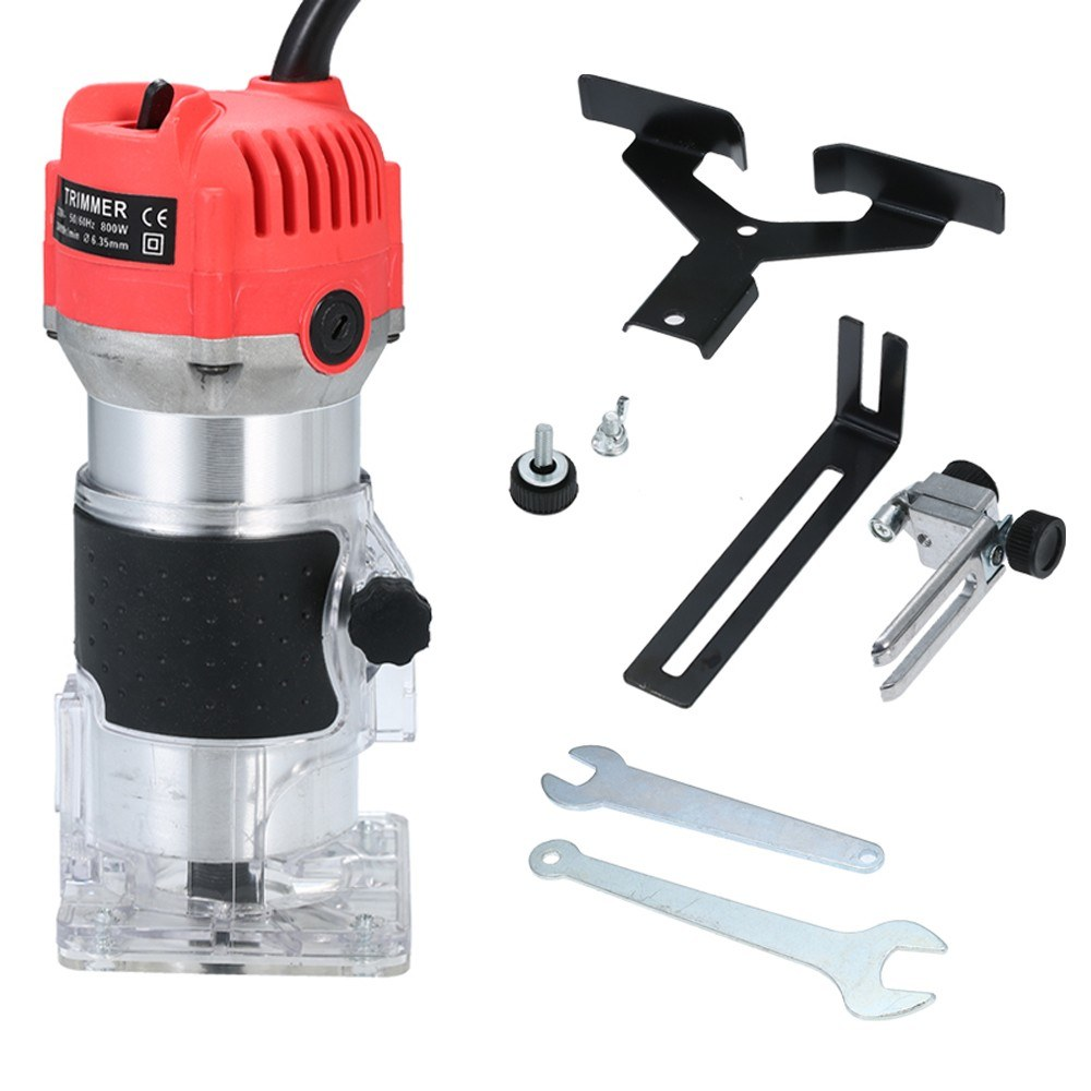 Tomtop - [EU Warehouse] 220V 800W Trim Router 30000r/min with Transparent Base Edge Guide Wood Laminate Electric Trimmer, $33.99 (Inclusive of VAT)