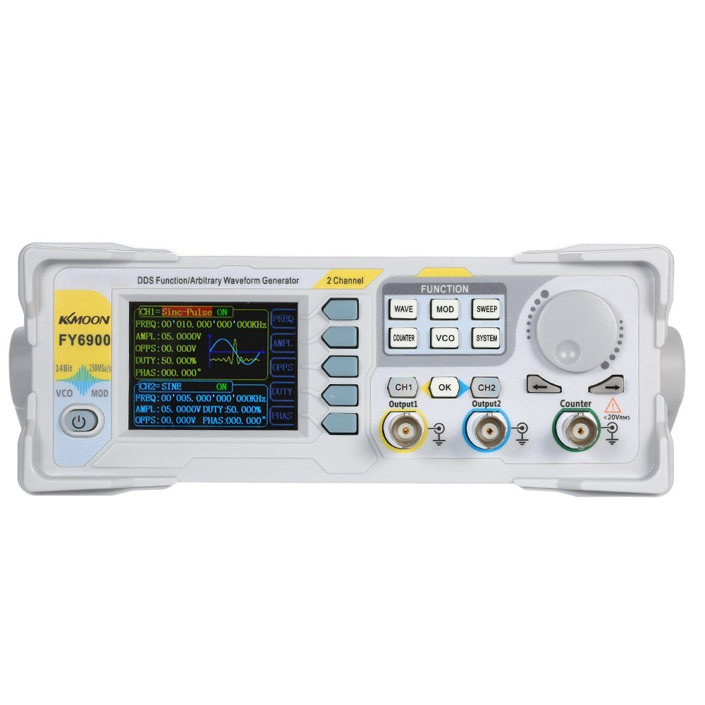 KKmoon 30MHz High Precision Function Signal Generator Digital DDS  Dual-channel Function Signal/Arbitrary Waveform Generator Pulse Signal  Source