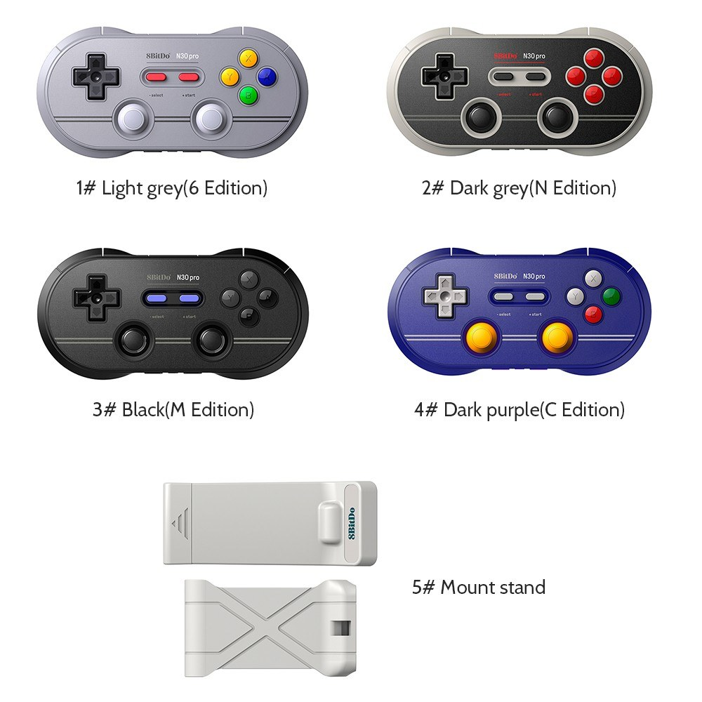 4225-OFF-8Bitdo-N30-Pro-2-Controller-BT-Gamepad-with-Mount-Standlimited-offer-243499