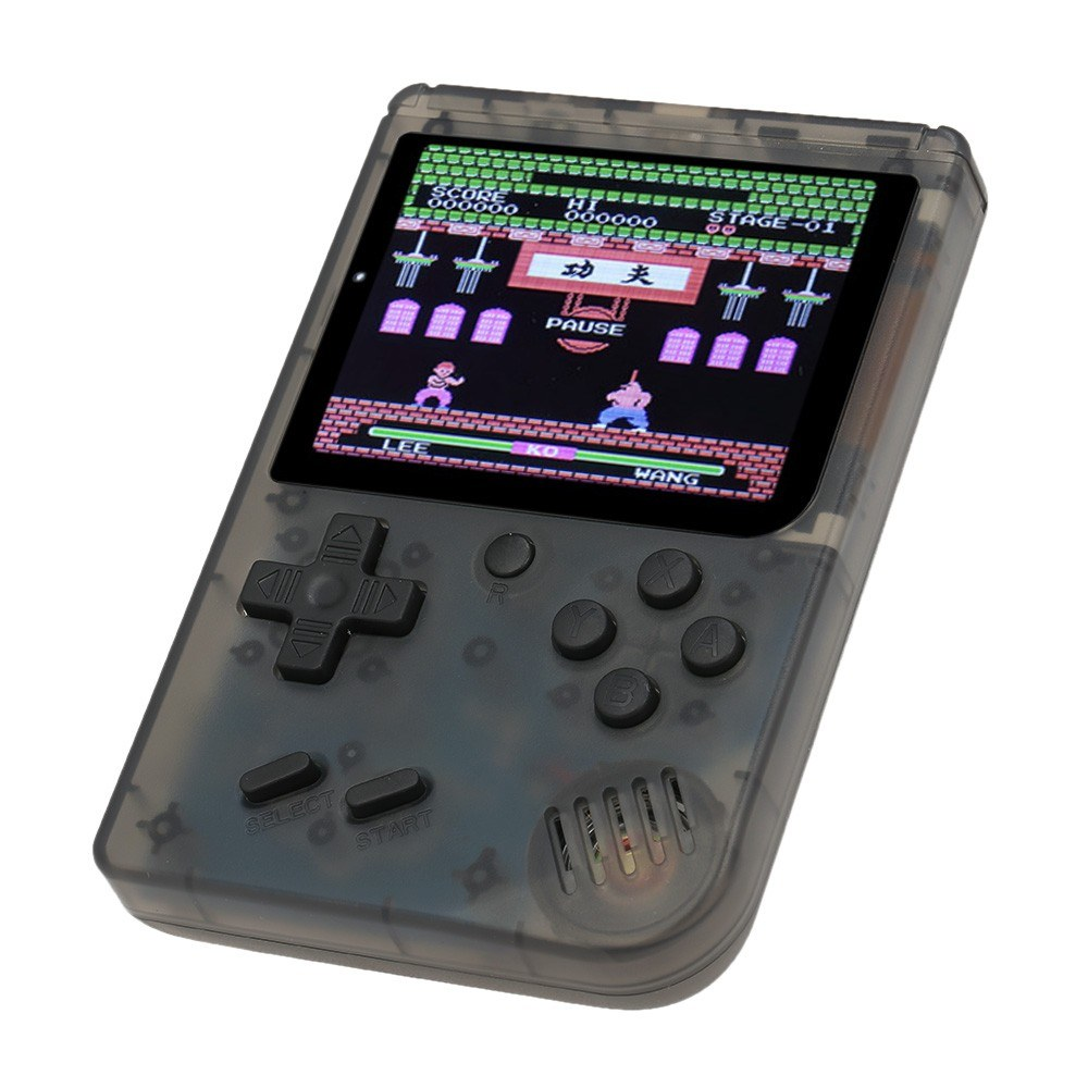 Best retro mini 2 handheld game console emulator built in 168 transparent black sale online - Retro game emulator console ...