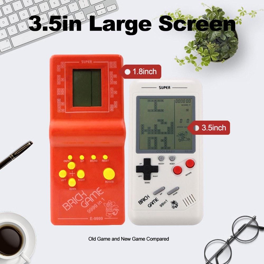 RS 99 Classic Game Console Tetris Block Puzzle Games Handheld Machine