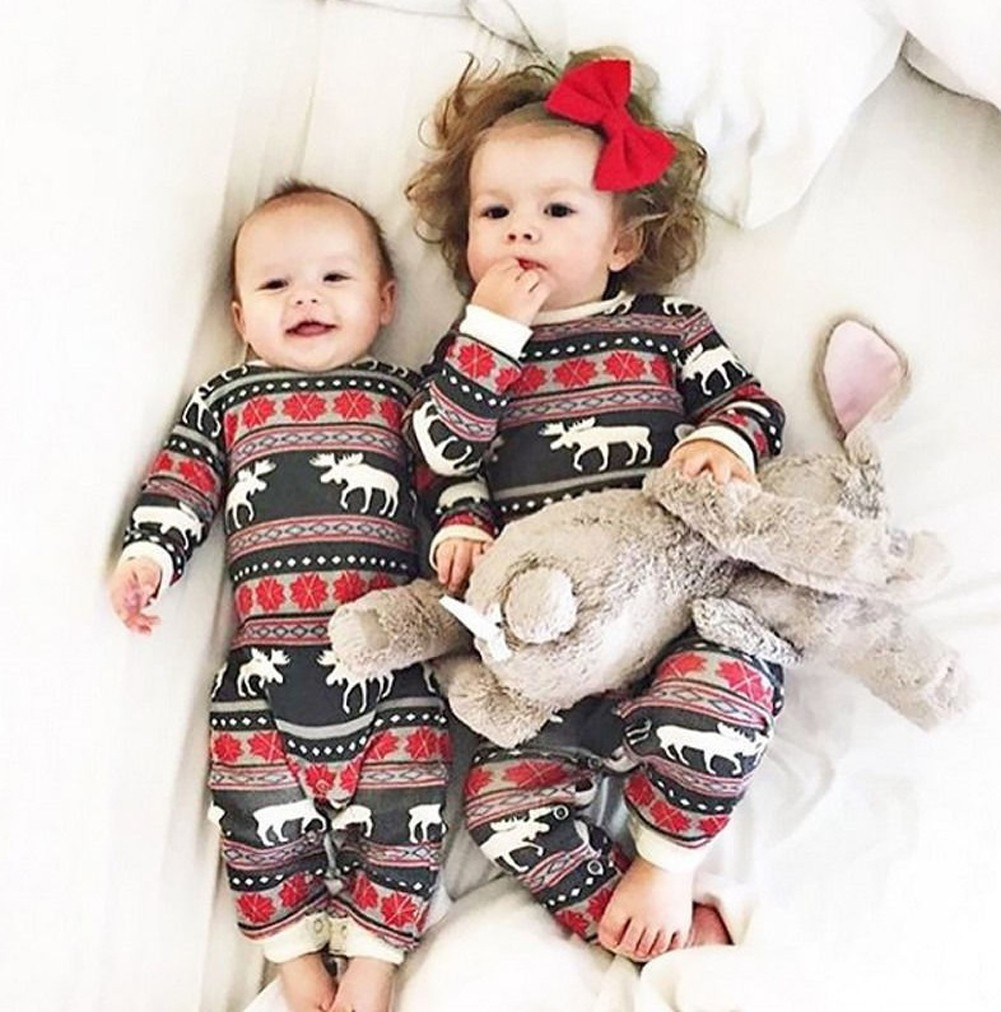 Infant Baby Bodysuit Rompers Jumpsuit Christmas Family Look Pajamas  Reindeer Family Matching Outfit Father Mother Kids Baby Sleepwear Red red  100 Online ... b55166620
