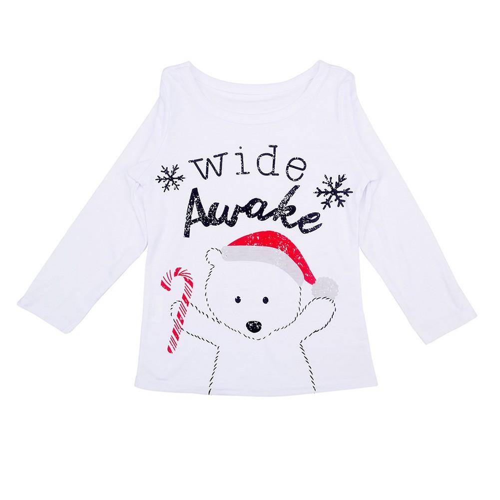 8877eb9e8a Navidad Familia Niños Niño Niñas Conjuntos de pijamas Carta de oso Impreso  Manga larga Top Pantalones de cuadros Ropa de dormir Ropa de dormir Blanco  blanco ...