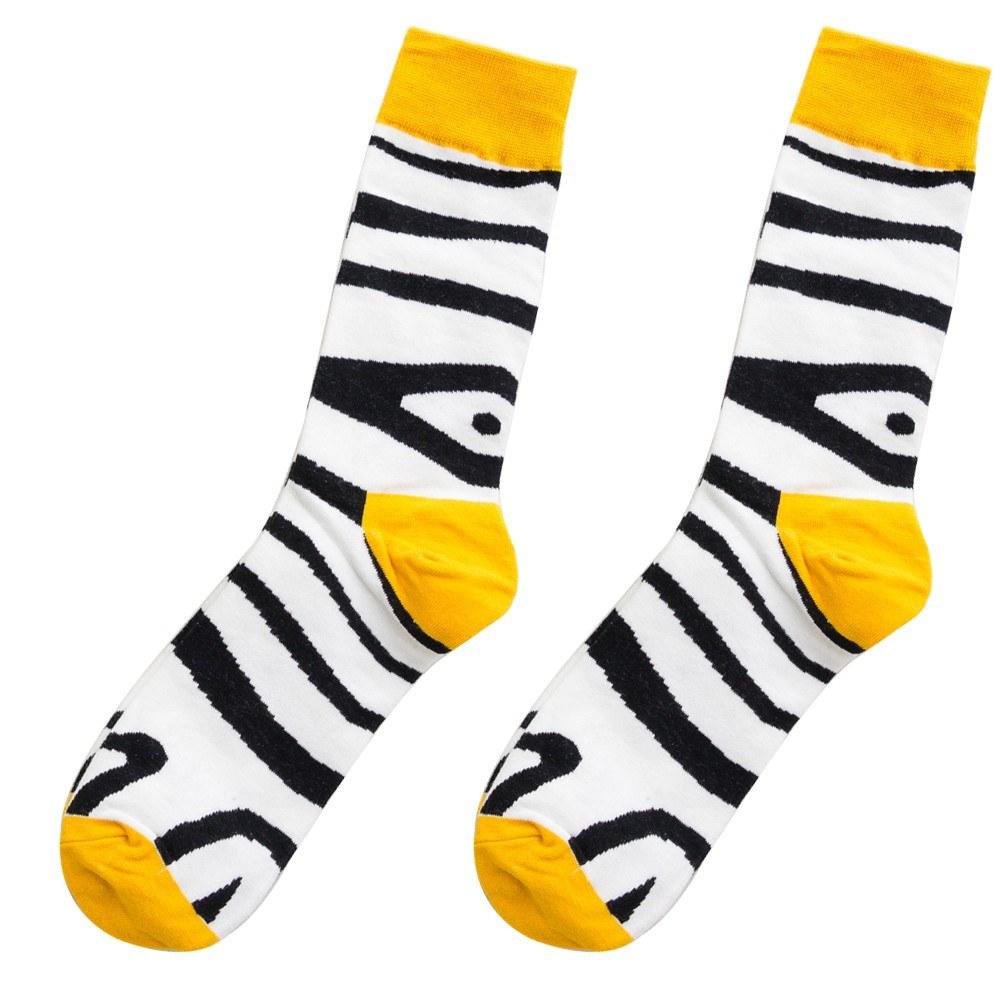 836846107f8 Une paire de chaussettes longues en coton confortables et colorées avec des  animaux uniques Une chaussette chaude et respirante